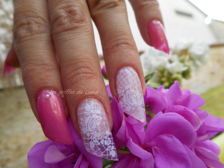 Nail art Foil dentelle blanc 5