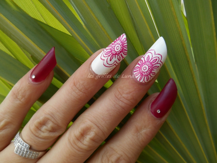 Nail art Stamping simple 1