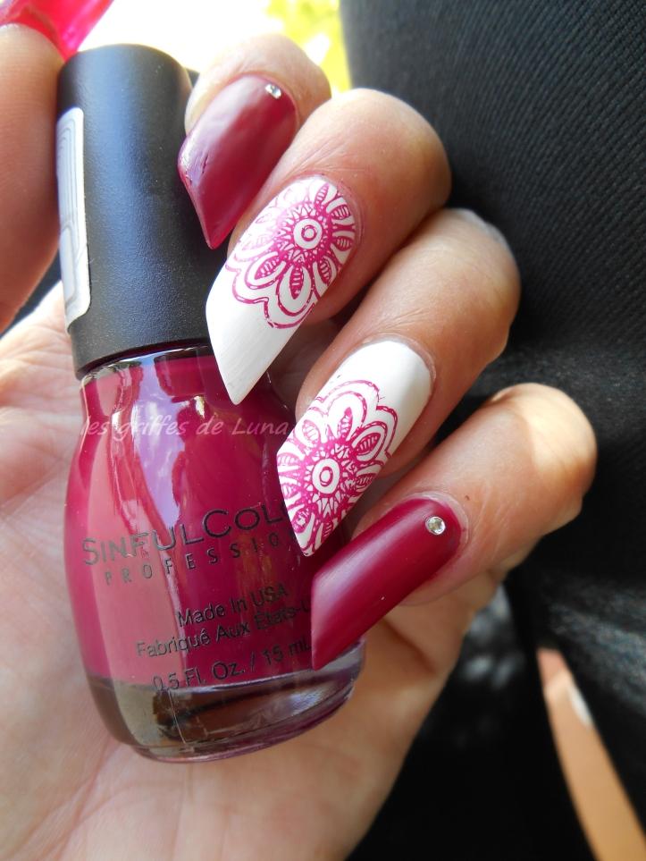 Nail art Stamping simple 4